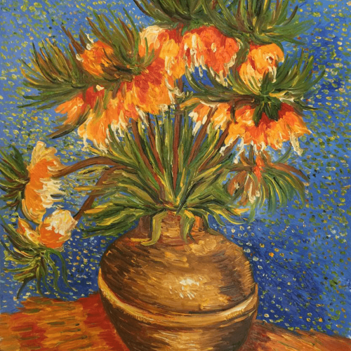 Crown Imperial Fritillaries in a Copper Vase Vincent Van Gogh Art Reproduction