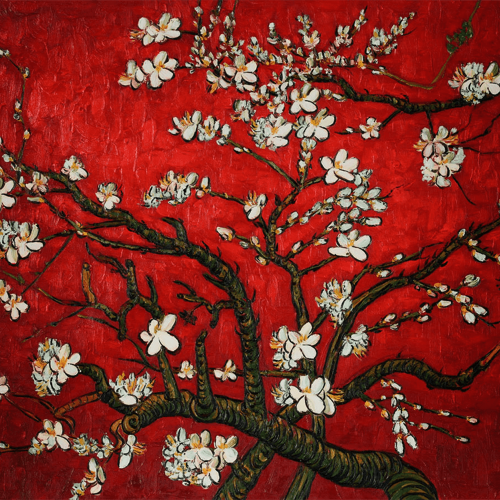 Red Almond Blossom Tree by Vincent Van Gogh