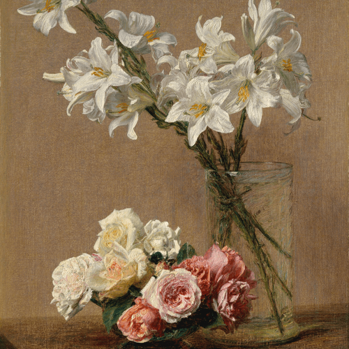 Roses and Lilies Henri Fantin
